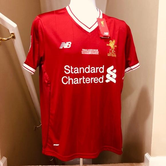 online store 3b1d9 945bc Salah #11 Liverpool Soccer Jersey UEFA 2018 Final NWT